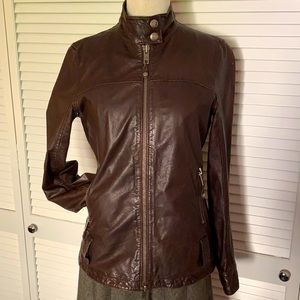 Ruehl No. 925 Brown Leather Jacket SZ M